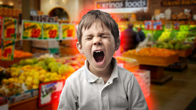 Niño no quiere ir a comprar. Viva Prandium