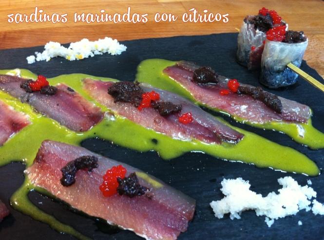 Sardinas marinadas con cítricos