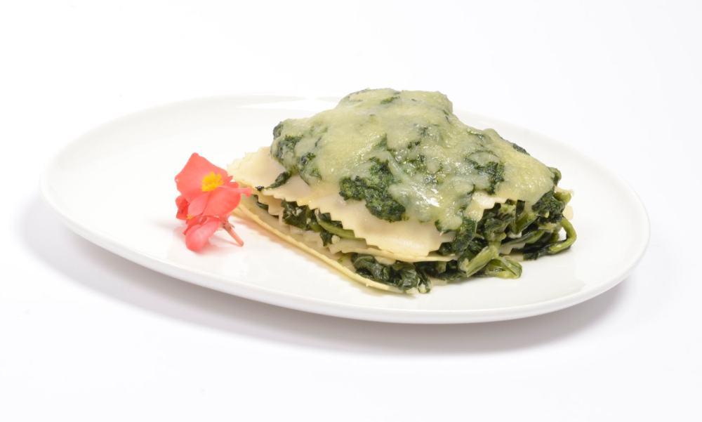 Lasagna ligera de espinacas. Lasaña ligera de espinacas.