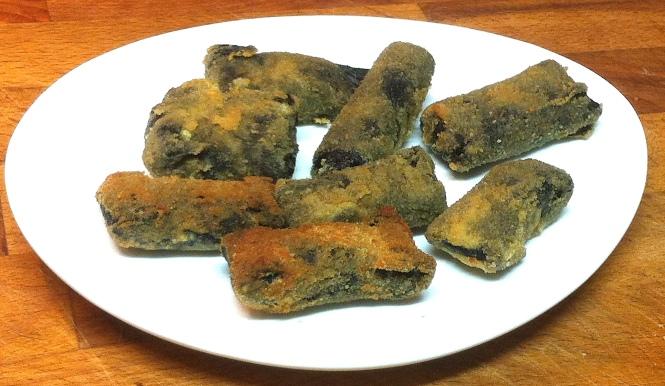 Rollitos de alga nori relleno de jamón york y queso