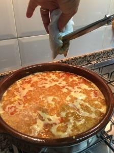 coral de sepia aprovechado para la receta de arroz con calamar